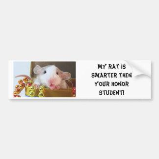 Estudiante del honor de la rata etiqueta de parachoque