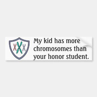 Estudiante del honor del cromosoma pegatina de parachoque