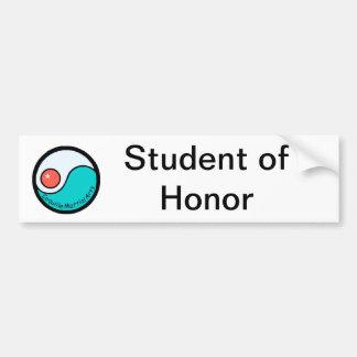 Estudiante del honor pegatina para auto