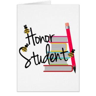 Estudiante del honor felicitación