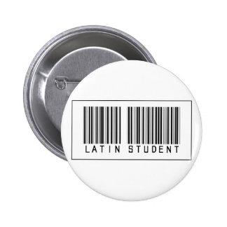 Estudiante del latín del código de barras pin redondo de 2 pulgadas