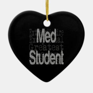 Estudiante del MED Extraordinaire Adorno Navideño De Cerámica En Forma De Corazón