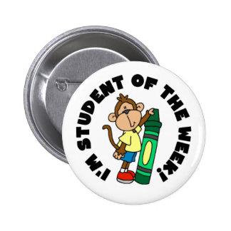 Estudiante del mono de la semana pins