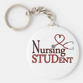 Estudiante del oficio de enfermera llavero redondo tipo pin