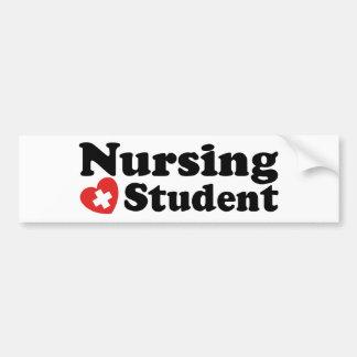 Estudiante del oficio de enfermera pegatina para auto