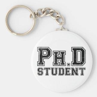 Estudiante del Ph.D Llavero Redondo Tipo Pin