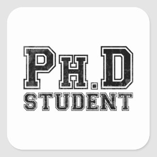 Estudiante del Ph.D Pegatina Cuadrada