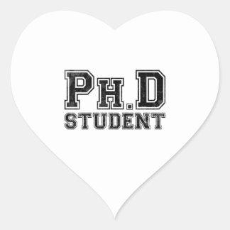 Estudiante del Ph.D Pegatina En Forma De Corazón