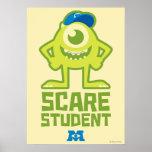 Estudiante del susto de Mike Poster