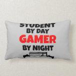 Estudiante del videojugador cojines