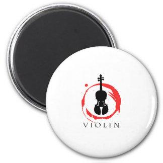 Estudiante del violín imán redondo 5 cm