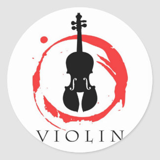 Estudiante del violín pegatina redonda