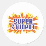Estudiante estupendo etiquetas redondas