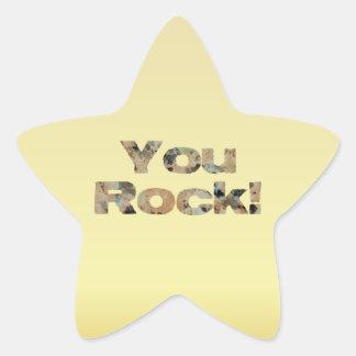 Estudiante lindo fresco de motivación usted roca pegatina en forma de estrella