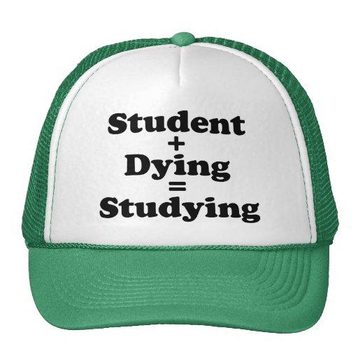 Estudiante más estudiar de muerte de los iguales gorro