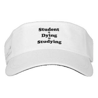 Estudiante más estudiar de muerte de los iguales visera