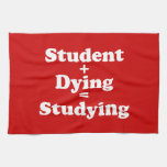 Estudiante + Muerte = el estudiar Toalla