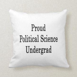 Estudiante orgulloso de la ciencia política cojin