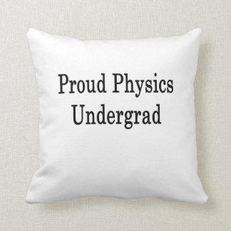 Estudiante orgulloso de la física almohadas