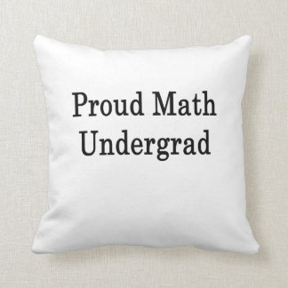 Estudiante orgulloso de la matemáticas almohada
