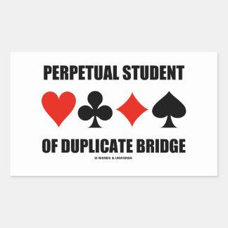Estudiante perpetuo del puente duplicado (juegos rectangular pegatinas