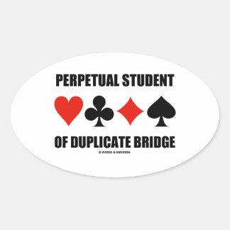 Estudiante perpetuo del puente duplicado (juegos calcomania de oval personalizadas