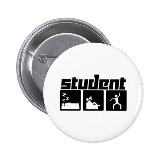 Estudiante Pin Redondo De 2 Pulgadas