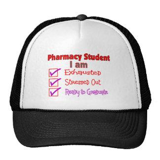 """Estudiante """"subrayado,"""" regalos agotados de la far gorras"""