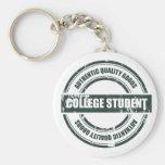 Estudiante universitario auténtico llaveros personalizados