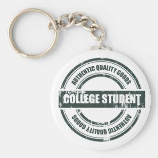 Estudiante universitario auténtico llavero redondo tipo pin