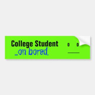 Estudiante universitario,… en agujereado pegatina para auto