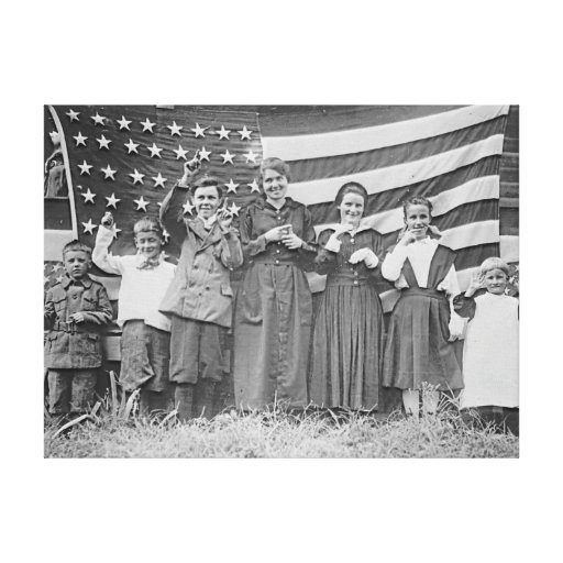Estudiantes Cincinnati 1918 de la escuela del St.  Impresion De Lienzo