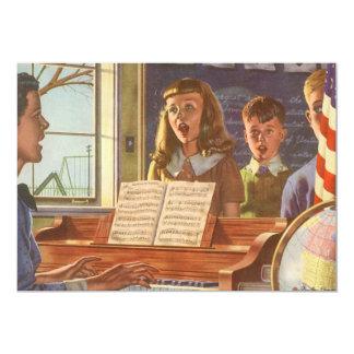 Estudiantes de enseñanza del profesor de música invitación 12,7 x 17,8 cm