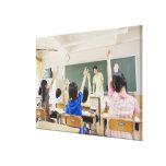 Estudiantes de la escuela primaria en la escuela 2 lona envuelta para galerías