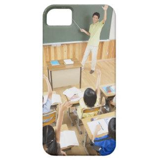 Estudiantes de la escuela primaria en la escuela iPhone 5 funda