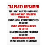 estudiantes de primer año de la fiesta del té tarjetón