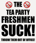 estudiantes de primer año de la fiesta del té camisetas