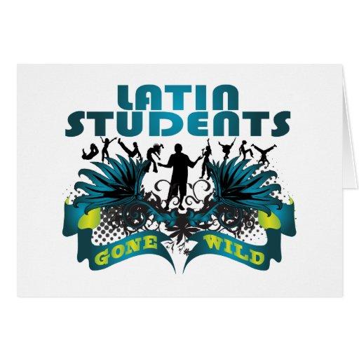 Estudiantes latinos idos salvajes felicitaciones