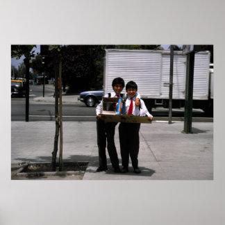 Estudiantes orgullosos, Santiago, Chile Póster