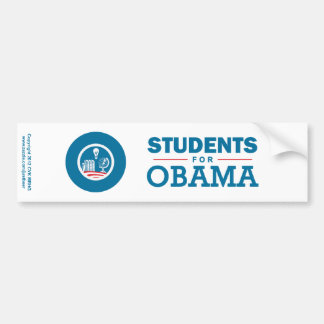 Estudiantes para Obama Pegatina De Parachoque