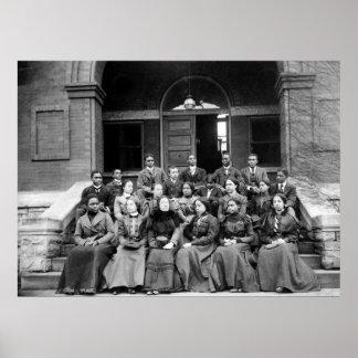 Estudiantes universitarios de Fisk: 1899 Póster
