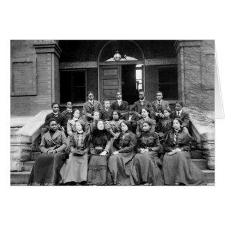 Estudiantes universitarios de Fisk 1899 Felicitacion