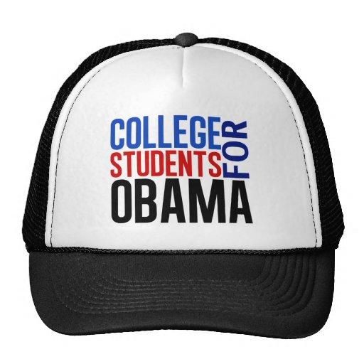 Estudiantes universitarios para Obama Gorra