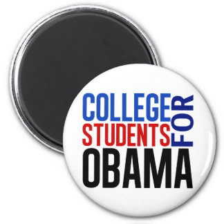 Estudiantes universitarios para Obama Imán Redondo 5 Cm