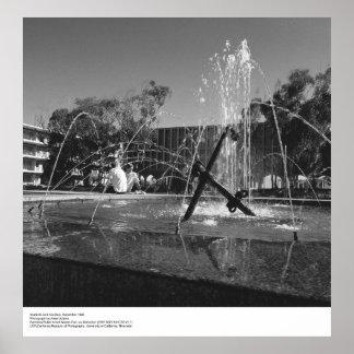Estudiantes y fuente del UCSD de Ansel Adams Poster