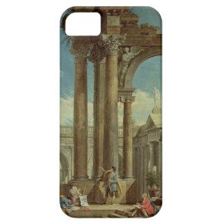 Estudiar perspectiva entre las ruinas romanas iPhone 5 carcasa