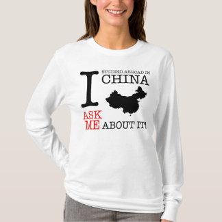 ¡Estudié en el extranjero en China! Playera