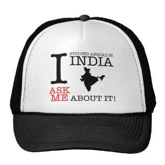 ¡Estudié en la India! Gorros