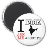 ¡Estudié en la India! Imanes Para Frigoríficos