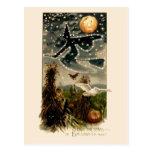 Estudie las estrellas en la postal de la noche de